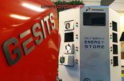 Konsep Tukar Baterai Motor Listrik ala Pertamina dan Gesits