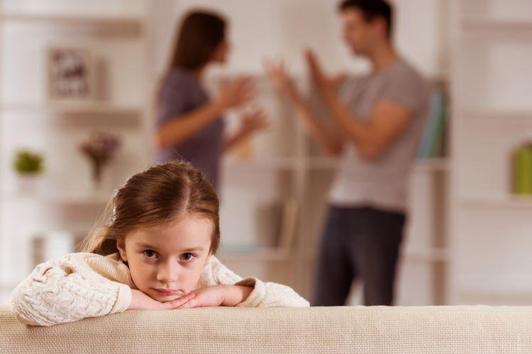 Ilustrasi anak yang orangtuanya bertengkar