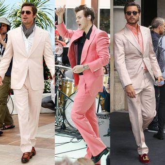Ilustrasi jas pink