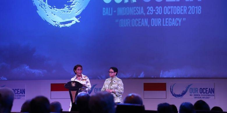 Menteri Susi berpidato saat Our Ocean Conference (OOC) 2018
