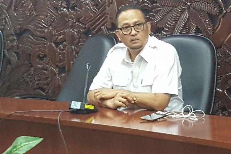 Dirjen Aplikasi Informatika Kominfo, Semuel Abrijani Pangerapan di kantor Kominfo, Senin (9/10/2017).