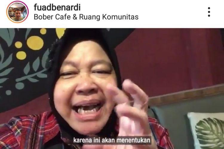 Wali Kota Surabaya Tri Rismaharini ajak millenial untuk tidak Golput lewat Vlog
