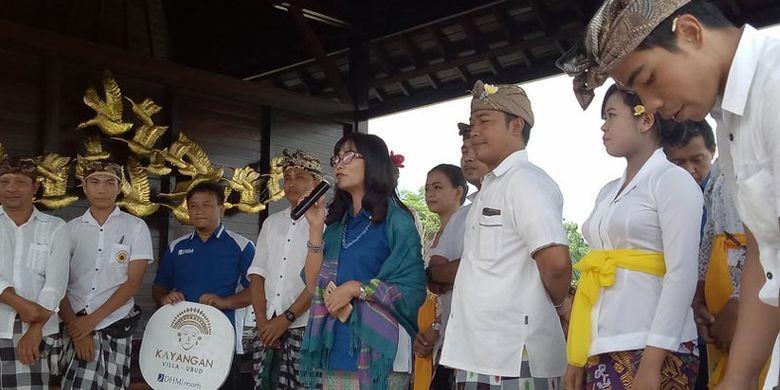 Grand opening Kayangan Villa Ubud di Desa Kenderan, Ubud, Kabupaten Gianyar, Bali, Sabtu (4/5/2019). Kayangan Villa Ubud menjadi bagian dari eksistensi Desa Kenderan sebagai desa wisata dengan latar belakang budaya dan sejarah.