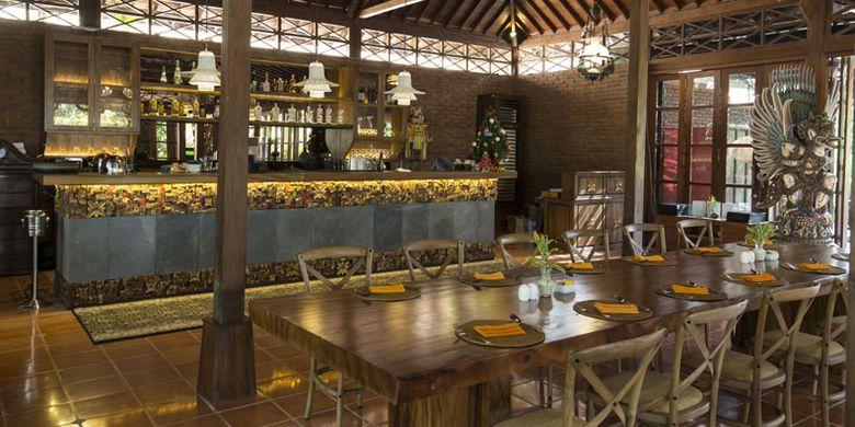 Restoran di Plataran Canggu Bali Resort & Spa, Jalan Pengubugan, Banjar Silayukti, Kuta, Bali.