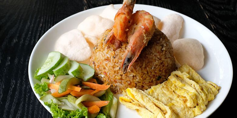 Nasi Goreng Amaroossa di restoran Amos Kitchen, Cipete, Jaksel.
