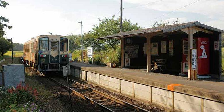 Stasiun Nakane di Jepang merupakan stasiun dengan pemandangan pedesaan yang indah, di mana platfromnya hanya terdiri dari peron yang diberi atap. Di sekitar stasiun ini ada peninggalan sejarah seperti kofun (kuburan kuno Jepang) dan banyak lagi.