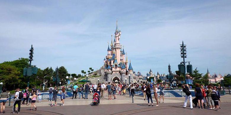 Sleeping Beauty Castle di Disneyland Paris.