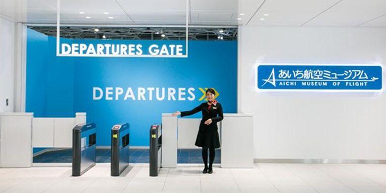 Museum pesawat di Prefektur Aichi, Jepang. Pengunjung dapat melihat berbagai jenis pesawat baik dari Jepang maupun negara lainnya dari seluruh dunia. Pintu masuk yang terdapat di lantai dua sengaja diberi nama Pintu Keberangkatan seperti di airport.