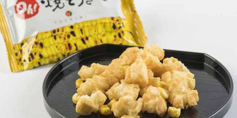 Sapporo Okaki Oh! Yakitokibi adalah produk terbatas dari perusahaan Yoshimi yang menjalankan bisnis restoran dan memproduksi beberapa camilan di Sapporo, Jepang.