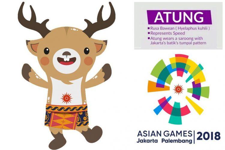 Atung, salah satu maskot Asian Games 2018