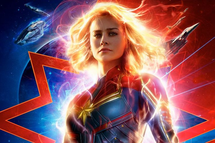 Poster terbaru film Captain Marvel.