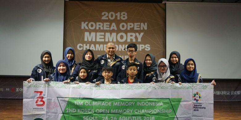 Siswa Indonesia berhasil memboyong 2 emas, 2 perak dan 2 perunggu pada kejuaraan 2nd Korea Open Memory Championship, yang berlangsung di Seoul, Korea Selatan (25-26 Agustus 2018).