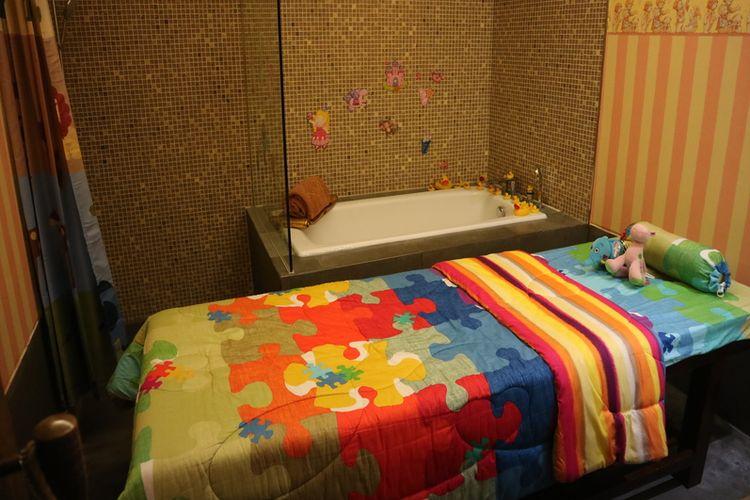Ruang spa khusus untuk anak-anak di Hotel Tentrem, Yogyakarta.