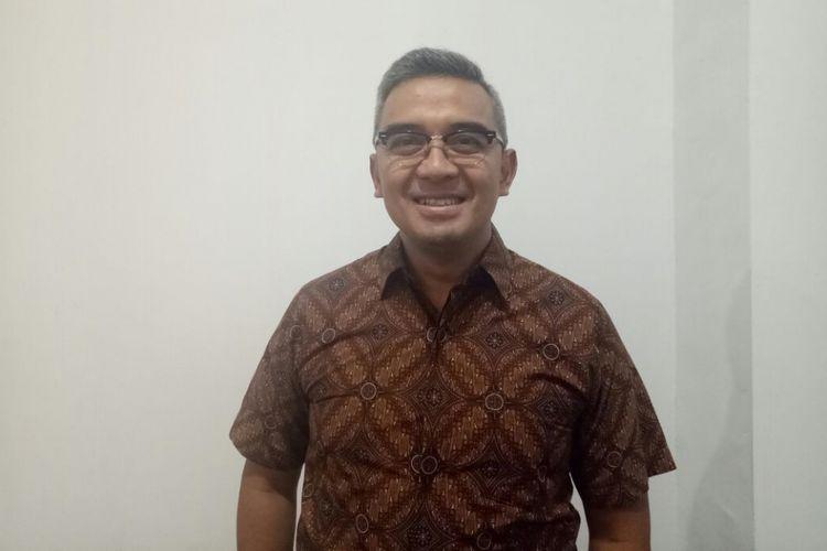 Farhan hadir dalam acara Pameran Seni Badak Sumatera: Harta KarunTersembunyi Indonesia, di Perpustakaan Nasional Republik Indonesia, di Jalan Medan Merdeka Selatan, Jakarta Pusat, Jumat (19/1/2018).