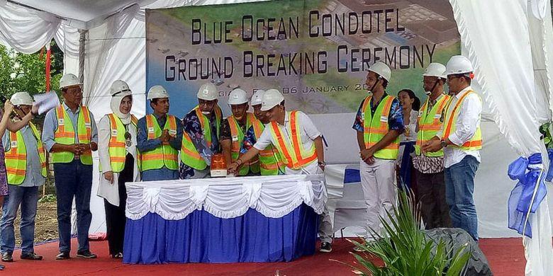 Acara ground breaking Blue Ocean Condotel di Legian, Kuta, Bali, Sabtu (6/1/2018).