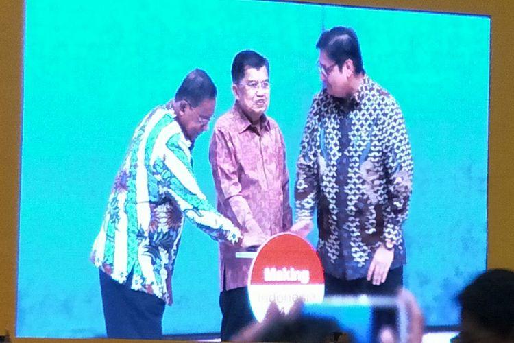 Peluncuran INDI 4.0 diacara Indonesia Industrial Summit, Tengerang, Senin (15/4/2019)