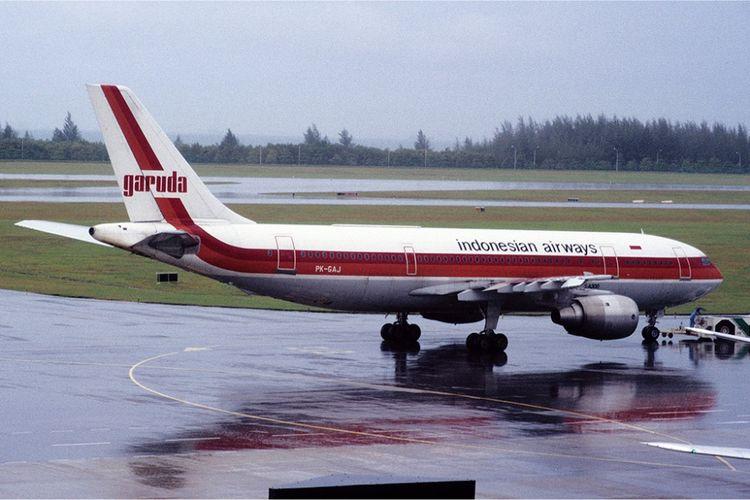 Airbus A300 milik Garuda Indonesia tahun 1985