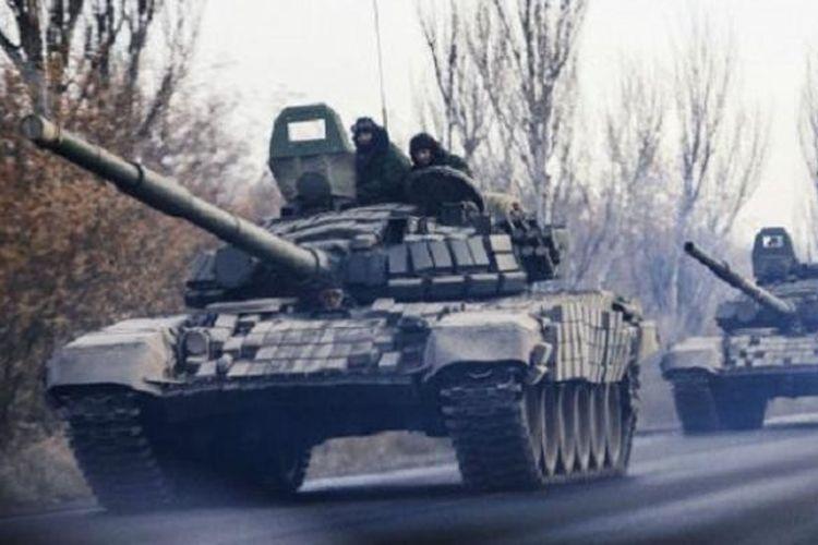 Ilustrasi tank Rusia.