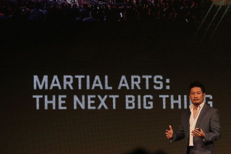 CEO ONE Championship, Chatri Sityodtong, dalam acara Global Martial Arts Summit di JW Marriott, Singapura, Kamis (8/11/2018).