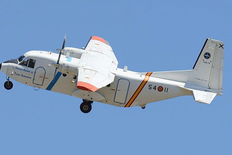 Ilustrasi pesawat Cassa 212.