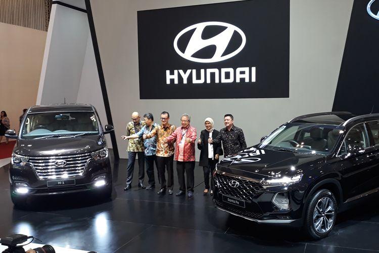 Hyundai Santa Fe dan H-1 meluncur di GIIAS 2018