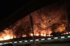 500 Meter Lahan di Kawasan Bandara Depati Amir Terbakar