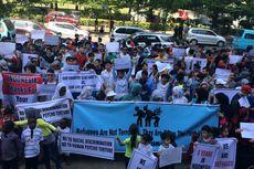 Merasa Terkekang, Imigran dari Berbagai Negara Demo di Makassar