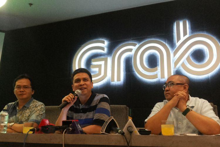 Managing Director Grab Indonesia, Rizdki Kramadibrata di kantornya, Gedung Lippo Kuningan, Jakarta Selatan, Kamis (6/7/2017).