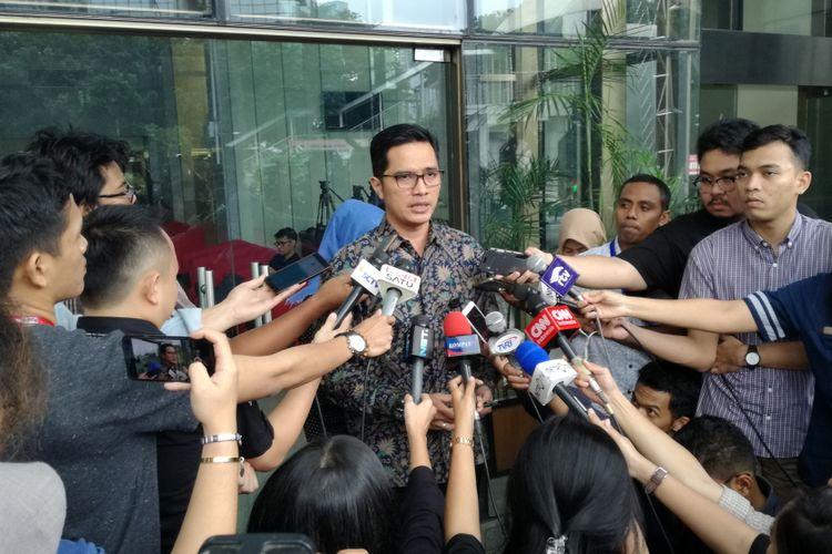 Juru Bicara KPK Febri Diansyah di gedung Merah Putih KPK, Jakarta, Selasa (26/6/2018)