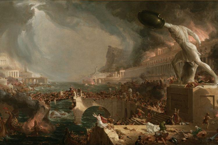 Jatuhnya Kekaisaran Romawi disebabkan oleh kelaparan dan wabah yang terjadi pada 536, menurut studi baru.