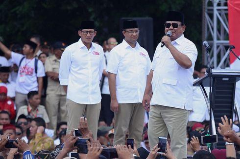 Prabowo: Janji Anies-Sandi Sudah Jelas, yang Penting Pelaksanaannya