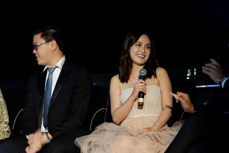 Artis peran Shandy Aulia dalam peluncuran Mielerie di Bandung, Kamis (17/1/2019) malam.