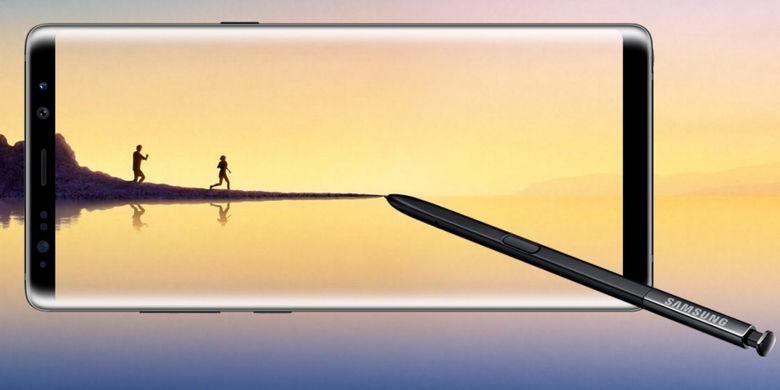 Galaxy Note 8 merupakan perangkat phablet dengan layar 6,3 inci dan dilengkapi S-Pen.