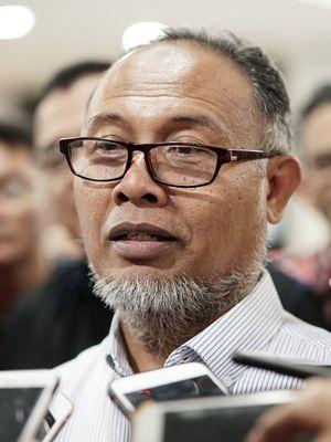 Ketua Tim Hukum pasangan Prabowo Subianto-Sandiaga Uno, Bambang Widjojanto, saat ditemui di gedung MK, Jakarta Pusat, Senin (10/6/2019).