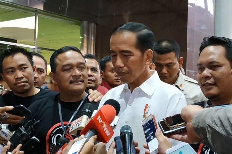 Presiden Joko Widodo menghadiri rembuk nasional 98 di Jakarta, Sabtu (7/7/2018).