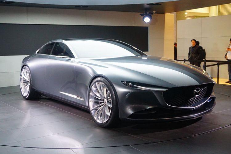 Ajang Tokyo Motor Show 2017 menjadi tempat beragam kendaraan konsep. Mazda membawa Vision Coupe.
