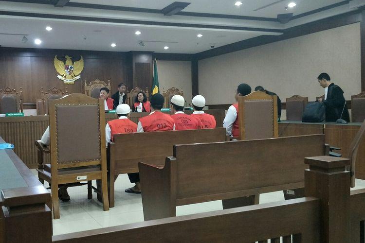 Kondisi ruang sidang di Pengadilan Negeri Jakarta Pusat, Rabu (14/8/2019).