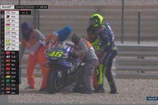 Valentino Rossi Sempat Terjatuh pada FP3 MotoGP Qatar 2018