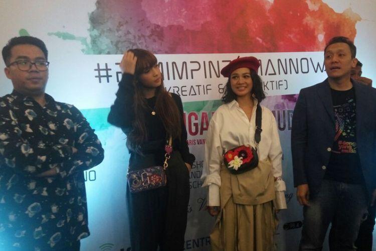 Andien menjadi salah satu pembicara dalam program #DengarYangMuda di Parijs Van Java Mall Bandung, Jumat malam (4/11/2017).