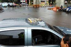 Pecahan Beton yang Timpa Mobil Dinas Polisi merupakan Sisa Konstruksi
