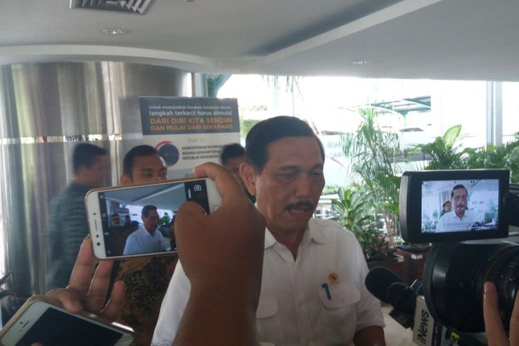 Menteri Koordinator Bidang Kemartiman Luhut Binsar Pandjaitan