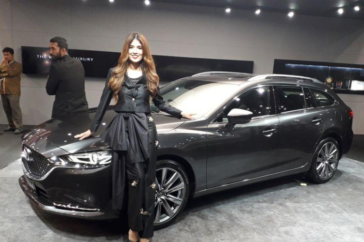 All New Mazda6 Elite Estate yang diluncurkan pada gelaran Gaikindo Indonesia International Auto Show (GIIAS) 2018 di ICE, BSD City, Tangerang, Kamis (2/8/2018).