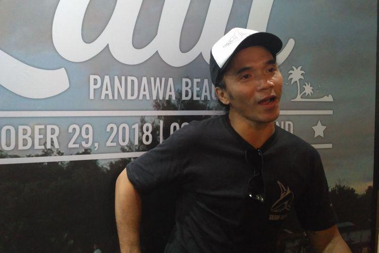 Kaka Slank saat ditemui dalam jumpa pers Our Ocean Conference 2018 di kawasan Kuningan, Jakarta Selatan, Kamis (25/10/2018).