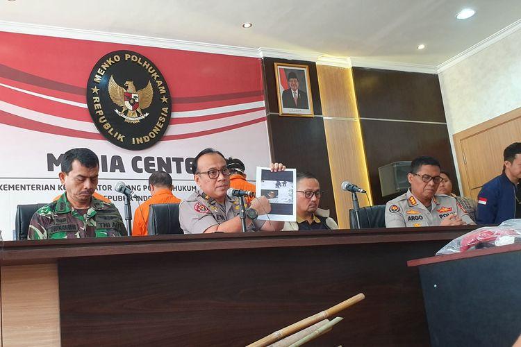 Jumpa pers terkait kerusuhan 22-23 Mei di Kantor Kemenko Polhukam, Jakarta, Sabtu (25/5/2019).