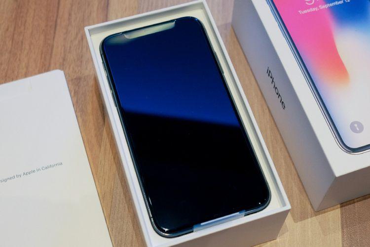 Kemasan penjualan iPhone X