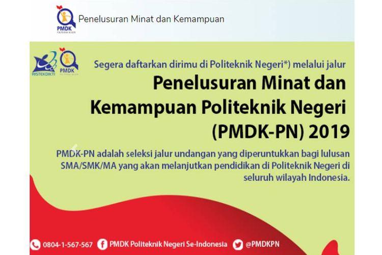 Penerimaan mahasiswa baru politeknik negeri jalur PMDK