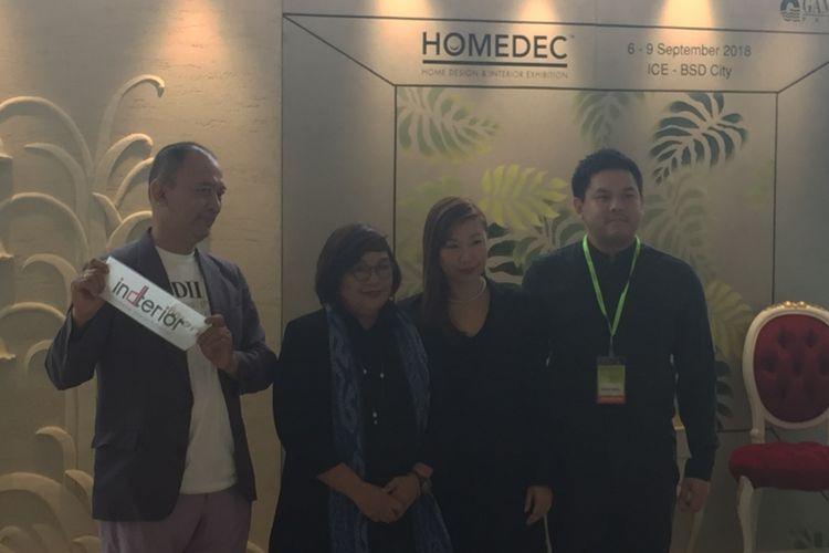 Pembukaan Homedec 2018 di ICE BSD, Serpong, Tangerang, Kamis (6/9/2018).
