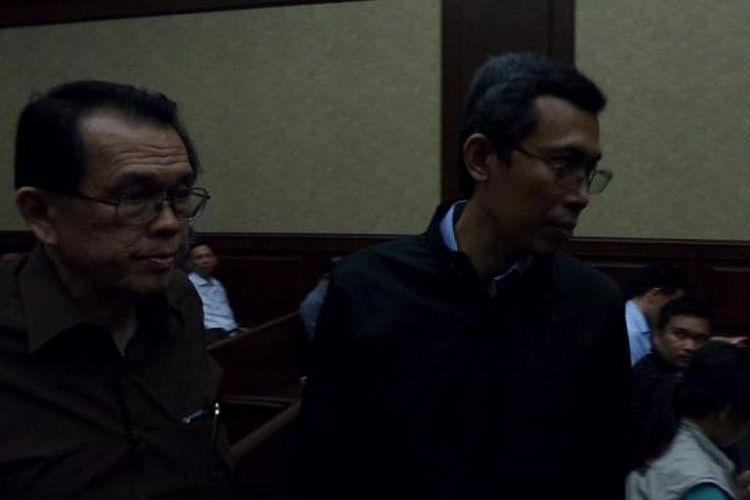 Presiden Direktur PT Paramount Enterprise International Ervan Adi Nugroho (kanan) di Pengadilan Tipikor, Jakarta, Senin (8/8/2016).