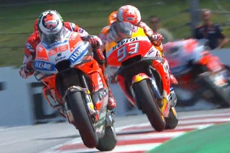 Lorenzo kalahkah Marquez di GP Austria