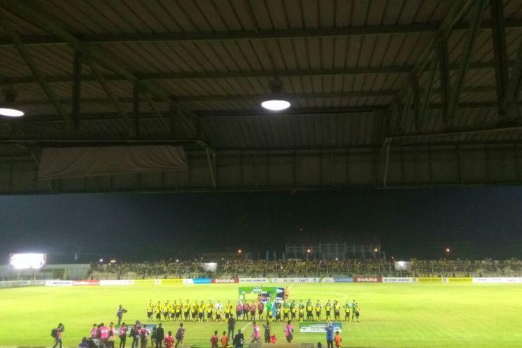 Suasana Stadion 17 Mei di Banjarmasin jelang pertandingan Liga 1 antara Barito Putera dan Bhayangkara FC, Sabtu (28/4/2018).